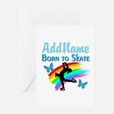 BORN TO SKATE Greeting Card