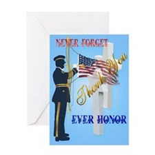 Large Poster Never Forget-Ever Honor Greeting Card