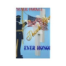 Large Poster Never Forget-Ever Ho Rectangle Magnet