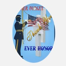 Large Poster Never Forget-Ever Honor Oval Ornament