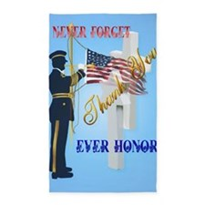 Large Poster Never Forget-Ever Hono 3'x5' Area Rug