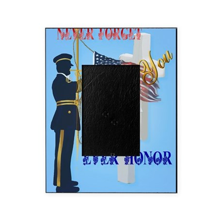 large poster never forgetever honor picture frame