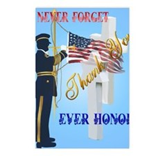 Never Forget-Ever Honor Postcards (Package of 8)