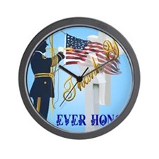 Never Forget-Ever Honor Wall Clock