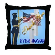 Never Forget-Ever Honor Throw Pillow