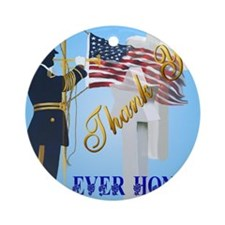 Never Forget-Ever Honor Round Ornament