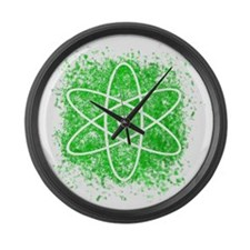 Cool Nuclear Splat Large Wall Clock