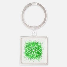 Cool Nuclear Splat Square Keychain