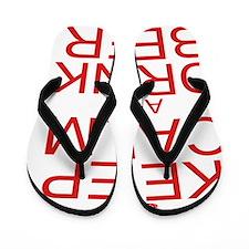 keepCALM-beer-red Flip Flops