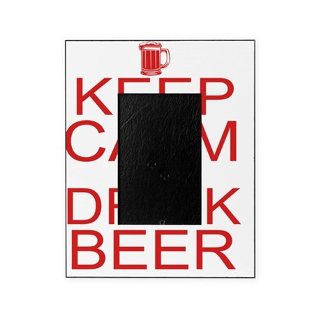 keepCALM-beer-red Picture Frame