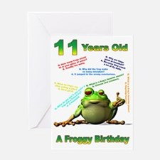 Lots of Froggy Jokes 11th Birthday Card Greeting C