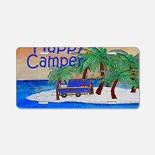 Happy Camper yard sign Aluminum License Plate