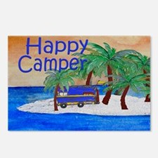 Happy Camper yard sign Postcards (Package of 8)