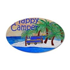 Happy Camper yard sign 35x21 Oval Wall Decal