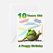 Lots of Froggy Jokes 10th Birthday Card Greeting C