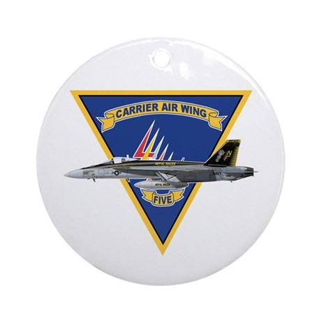 Carrier Air Wing FIVE Ornament (Round)