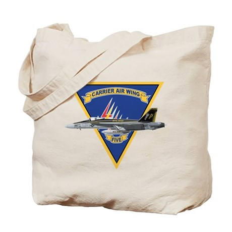 Carrier Air Wing FIVE Tote Bag