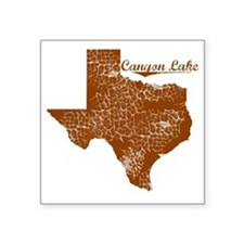 """Canyon Lake, Texas (Search  Square Sticker 3"""" x 3"""""""
