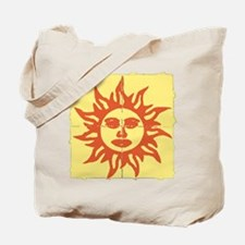 Orange Sunshine Tab Tote Bag