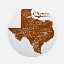 Cherokee, Texas (Search Any City!) Round Ornament