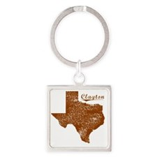 Clayton, Texas (Search Any City!) Square Keychain