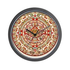 Sun Stone of Ancient Tenochtitlan Wall Clock
