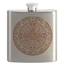Sun Stone of Ancient Tenochtitlan Flask