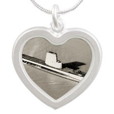 charr agss large framed prin Silver Heart Necklace