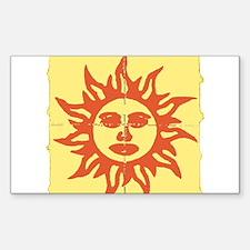 Orange Sunshine Tab Decal