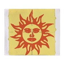 Orange Sunshine Tab Throw Blanket