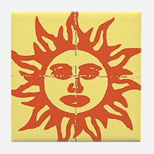 Orange Sunshine Tab Tile Coaster