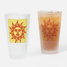Orange Sunshine Tab Drinking Glass