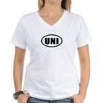 UNI Women's V-Neck T-Shirt