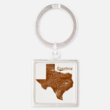 Courtney, Texas (Search Any City!) Square Keychain