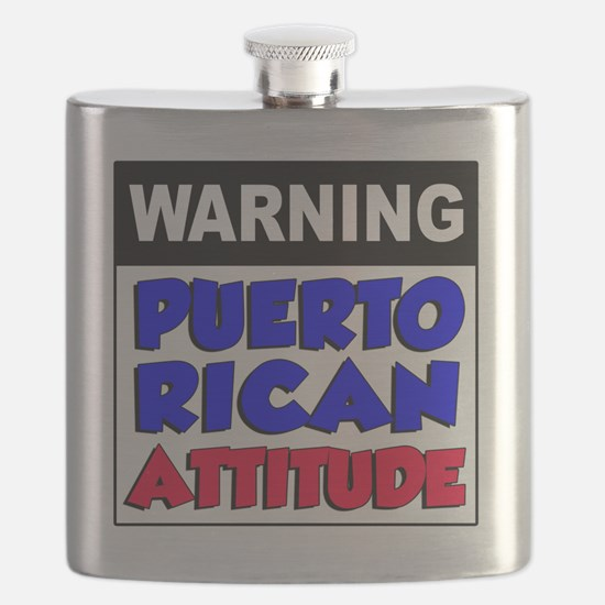 Warning Puerto Rican Attitude Flask