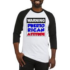 Warning Puerto Rican Attitude Baseball Jersey