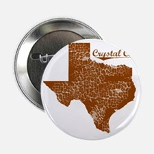 """Crystal City, Texas (Search Any City! 2.25"""" Button"""