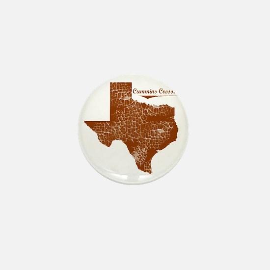 Cummins Crossing, Texas. Vintage Mini Button