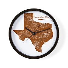 Cummins Crossing, Texas. Vintage Wall Clock