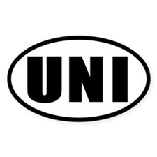 UNI Oval Decal