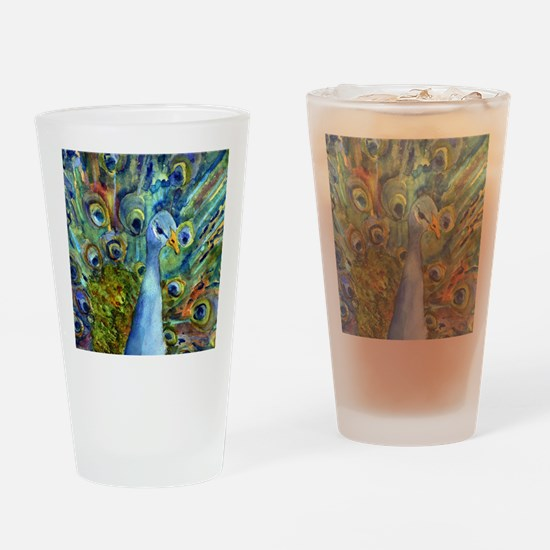 Peacock Party Drinking Glass