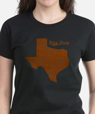 Ding Dong, Texas (Search Any  Women's Dark T-Shirt