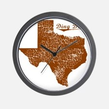 Ding Dong, Texas (Search Any City!) Wall Clock