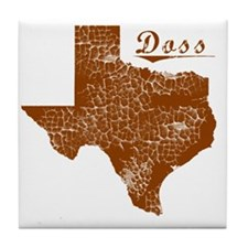 Doss, Texas (Search Any City!) Tile Coaster