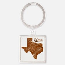 Elmo, Texas (Search Any City!) Square Keychain
