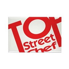 Top Street Chef Rectangle Magnet