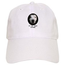 IT'S ALL ABOUT ATTITUDE (PIT BULL FACE) Baseball Cap