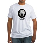 IT'S ALL ABOUT ATTITUDE (PIT BULL FACE) Fitted T-S