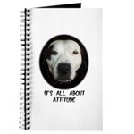 IT'S ALL ABOUT ATTITUDE (PIT BULL FACE) Journal