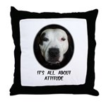 IT'S ALL ABOUT ATTITUDE (PIT BULL FACE) Throw Pill